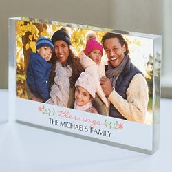 Personalized Blessings 4x6 Acrylic Keepsake Photo Plaque