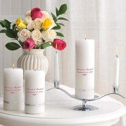 Traditional Deluxe Personalized Unity Candle Set
