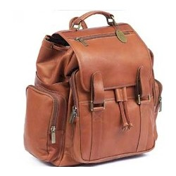 Jumbo Size Traveler Leather Backpack