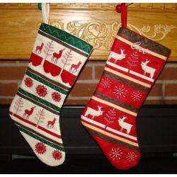 Personalized Woodland Christmas Stockings