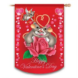 Charming Tails Happy Valentine's Day Flag