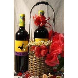 Valentine's Day Merlot Gift Basket