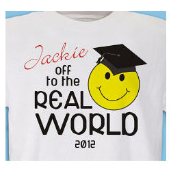 Personalized Off to the Real World T-Shirt