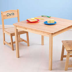 Personalized Kid's Wood Table and Chair Set