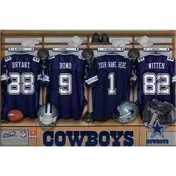 Dallas Cowboys 16x24 Personalized Locker Room Canvas