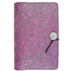 Purple Paisley Handmade Leather Journal