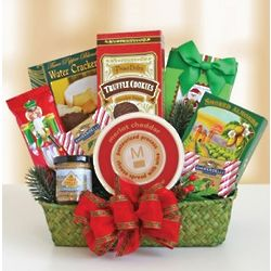 Evergreen Delights Holiday Gourmet Gift Basket