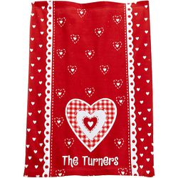 Personalized Hearts Hand Towel