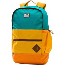 Turquoise and Yellow Van Doren II Backpack