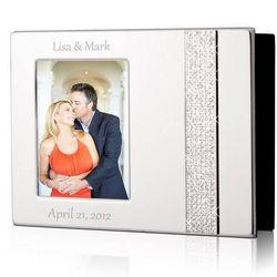 Personalized 4x6 Glitter Silver Photo Album