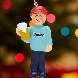 Personalized Beer Drinker Ornament
