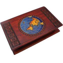 Globe Wooden Puzzle Box