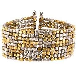 Free Spirit Mixed Metal Cuff Bracelet