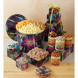 Fireworks Popcorn, Sweets and Snacks Gift Tower