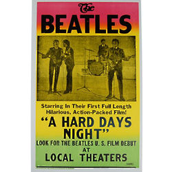 The Beatles Hard Days Poster