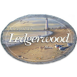 Life's A Beach Personalized Outdoor Oval Welcome Sign