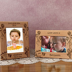 Personalized Happy Birthday Wooden Picture Frame