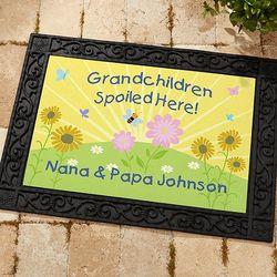 Personalized Grandchildren Spoiled Here Doormat