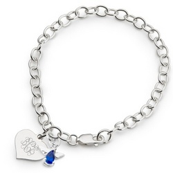 Girl's Septempber Birthstone Angel Bracelet