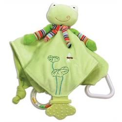 Freddy Frog Baby Chew Blanket