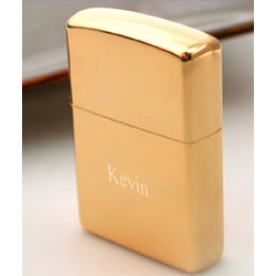 Gold Tone Finish Zippo Lighter
