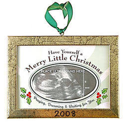 Personalized Ultrasound Photo Ornament