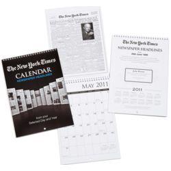 New York Times Headlines Calendar