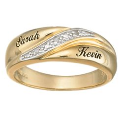 Personalized Men's Diamond Accent Wedding Band