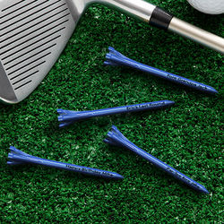 Personalized Blue Golf Tees