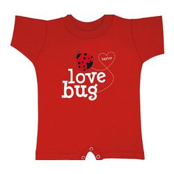 Personalized Hearts Love Bug T-Romper