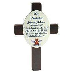 My Christening Cross Plaque