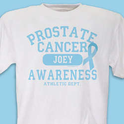 Prostate Cancer Athletic Dept. T-Shirt
