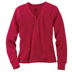 Women's Thermal Henley Knit Top