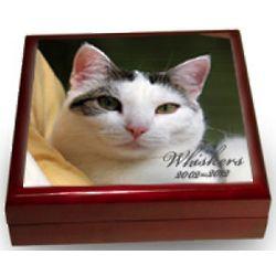 Personalized Photo Tile Keepsake Urn Box for Pet