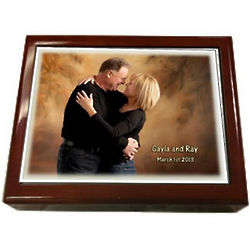 Personalized Custom Photo Tile Jewelry Box