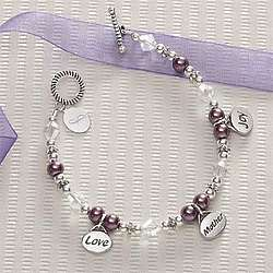 Monogrammed Love Mother Joy Charm Bracelet