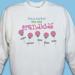 Personalized Sucker for My Kids Sweatshirt