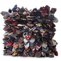 Reclaimed Necktie Pillow