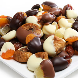 Chocolate-Covered Dried Fruit Assortment