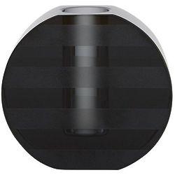 Round Black Graphic Candleholder