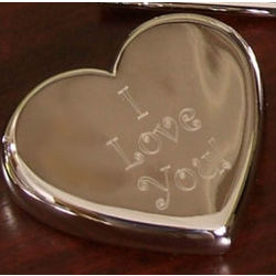 Silver Heart Paperweight