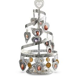 Engravable Heart-to-Heart Spiral Tree Picture Frame
