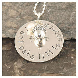 Little Acorns Handstamped Necklace