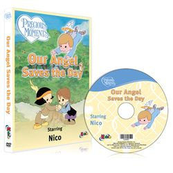 """Our Angel Saves the Day"" Personalized Precious Moments DVD"