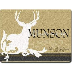 Personalized Deer Glass Cutting Board