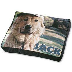 Large Personalized Photo Dog Bed