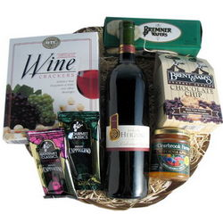 Kosher Wine and Snack Basket