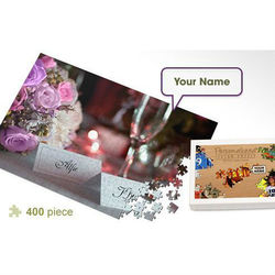 Personalized Romantic Dinner Jigsaw Puzzle