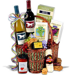 Wild Horse Duo Wine Gift Basket