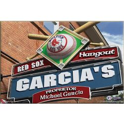 Boston Red Sox 16x24 MLB Baseball Personalized Pub Sign Print